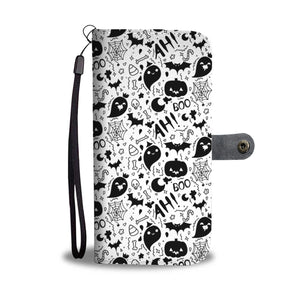 Halloween Ah Boo Wallet Case - Ineffable Shop