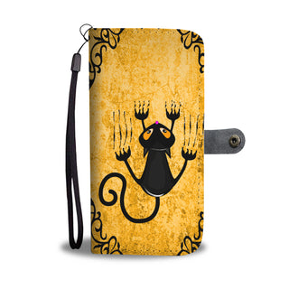 Halloween Cute Black Cat Wallet Case