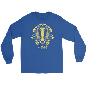 Harry Potter Vintage Hufflepuff Gildan Long Sleeve Tee - Gildan Long Sleeve Tee / Royal / S - Ineffable Shop