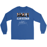 Harry Potter Alan Rickman Gildan Long Sleeve Tee - Gildan Long Sleeve Tee / Royal / S - Ineffable Shop