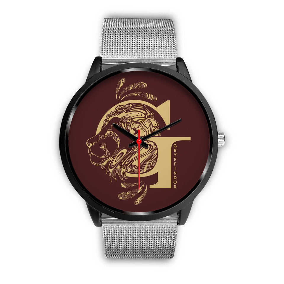 Harry Potter Gryffindor Watches - HPW002 - Mens 40mm / Silver Metal Mesh - Ineffable Shop