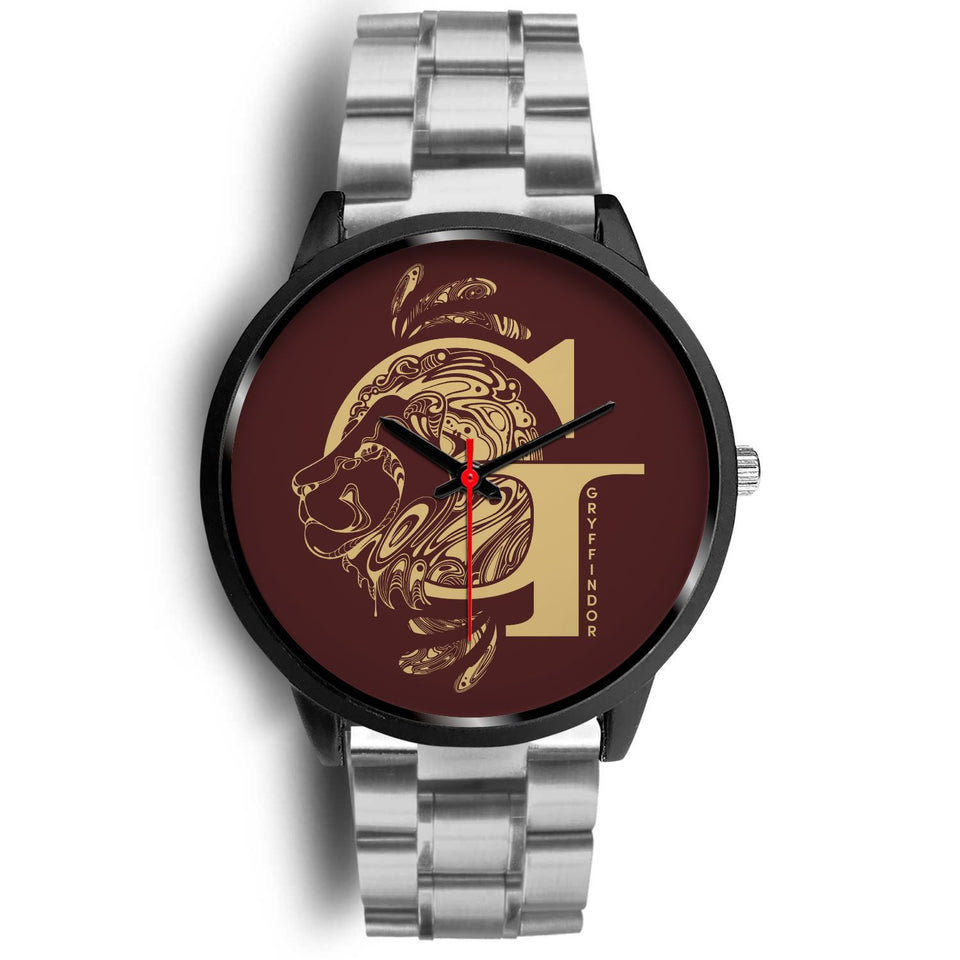 Harry Potter Gryffindor Watches - HPW002 - Mens 40mm / Silver Metal Link - Ineffable Shop