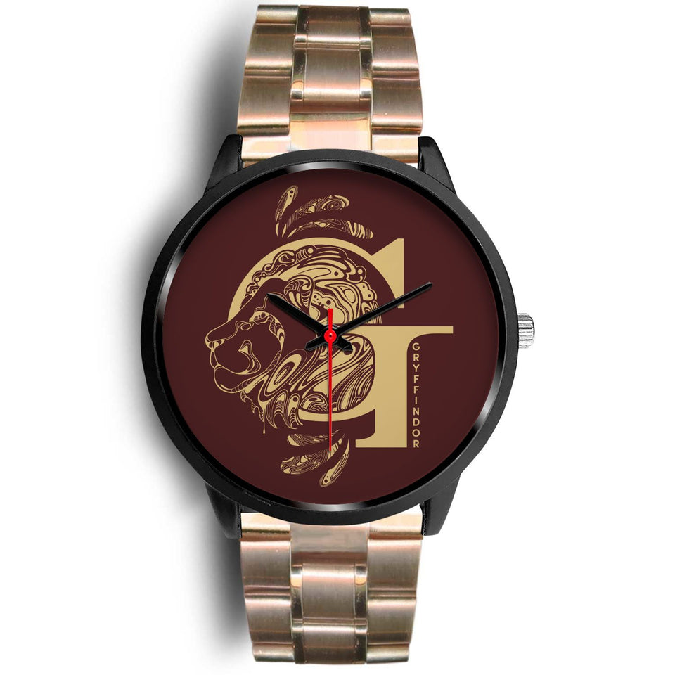 Harry Potter Gryffindor Watches - HPW002 - Mens 40mm / Rose Gold Metal Link - Ineffable Shop