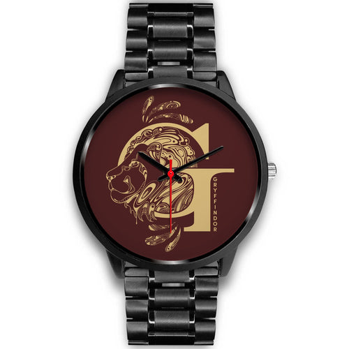 Harry Potter Gryffindor Watches - HPW002 - Mens 40mm / Black Metal Link - Ineffable Shop