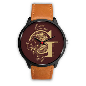 Harry Potter Gryffindor Watches - HPW002 - Mens 40mm / Brown Leather - Ineffable Shop