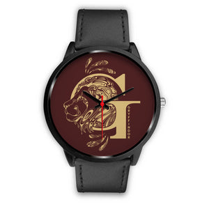 Harry Potter Gryffindor Watches - HPW002 - Mens 40mm / Black Leather - Ineffable Shop