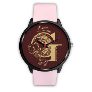 Harry Potter Gryffindor Watches - HPW002 - Mens 40mm / Pink Leather - Ineffable Shop