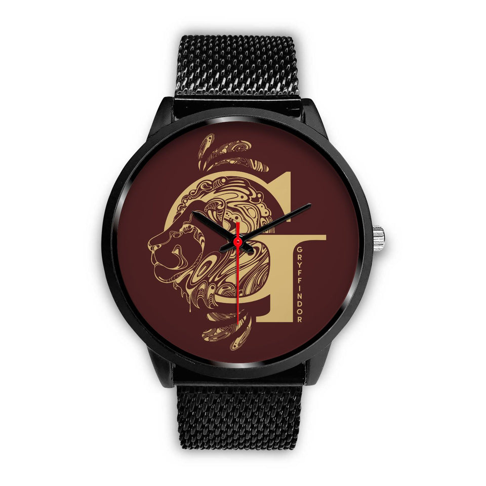 Harry Potter Gryffindor Watches - HPW002 - Mens 40mm / Black Metal Mesh - Ineffable Shop