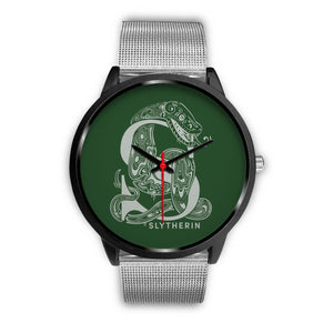 Harry Potter Slytherin Watches - HPW002 - Mens 40mm / Silver Metal Mesh - Ineffable Shop