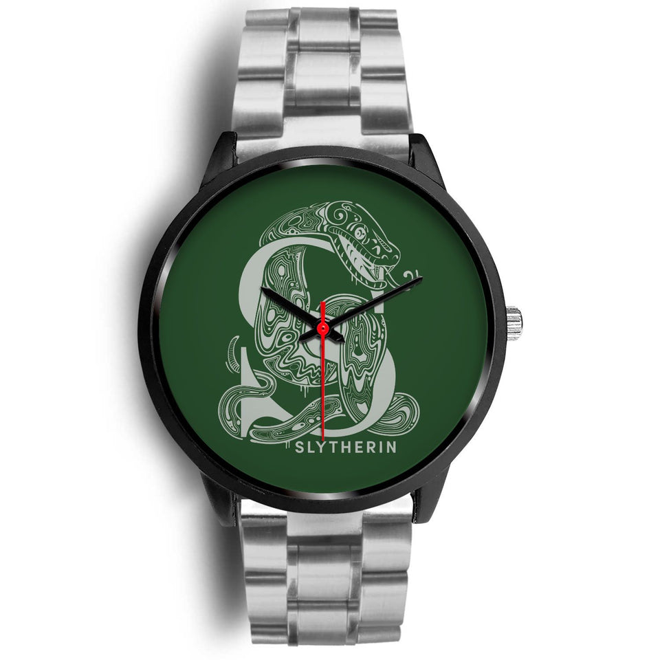Harry Potter Slytherin Watches - HPW002 - Mens 40mm / Silver Metal Link - Ineffable Shop