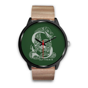 Harry Potter Slytherin Watches - HPW002 - Mens 40mm / Rose Gold Metal Mesh - Ineffable Shop