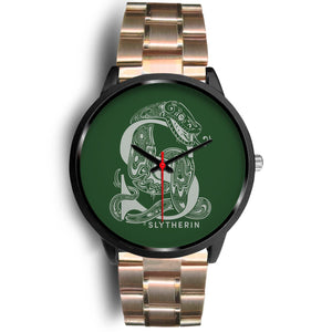 Harry Potter Slytherin Watches - HPW002 - Mens 40mm / Rose Gold Metal Link - Ineffable Shop