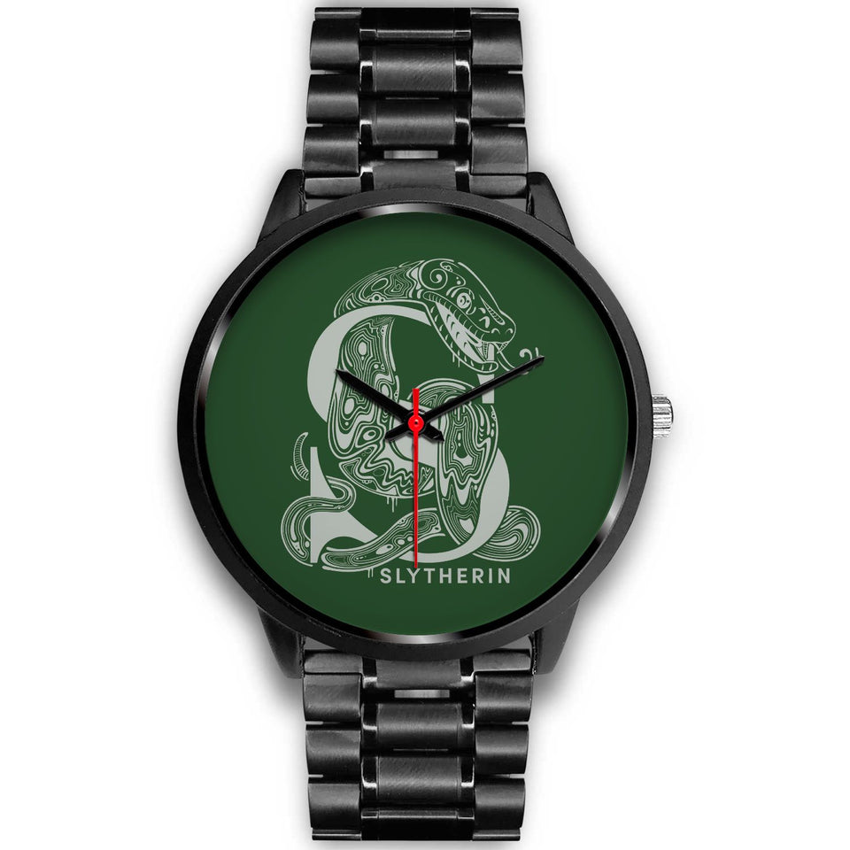 Harry Potter Slytherin Watches - HPW002 - Mens 40mm / Black Metal Link - Ineffable Shop