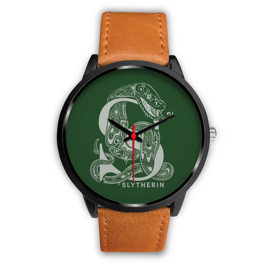 Harry Potter Slytherin Watches - HPW002 - Mens 40mm / Brown Leather - Ineffable Shop