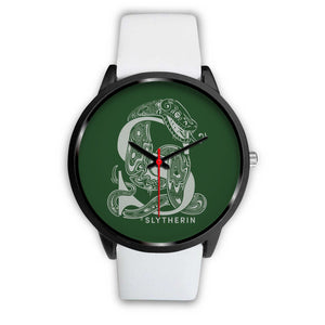 Harry Potter Slytherin Watches - HPW002 - Mens 40mm / White Leather - Ineffable Shop