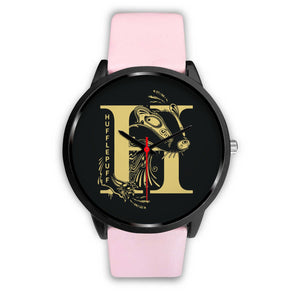 Harry Potter Huflepuff Watches - HPW002 - Mens 40mm / Pink Leather - Ineffable Shop