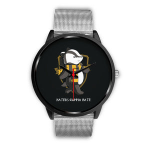 Harry Potter Hufflepuff Watches - HPW003 - Mens 40mm / Silver Metal Mesh - Ineffable Shop