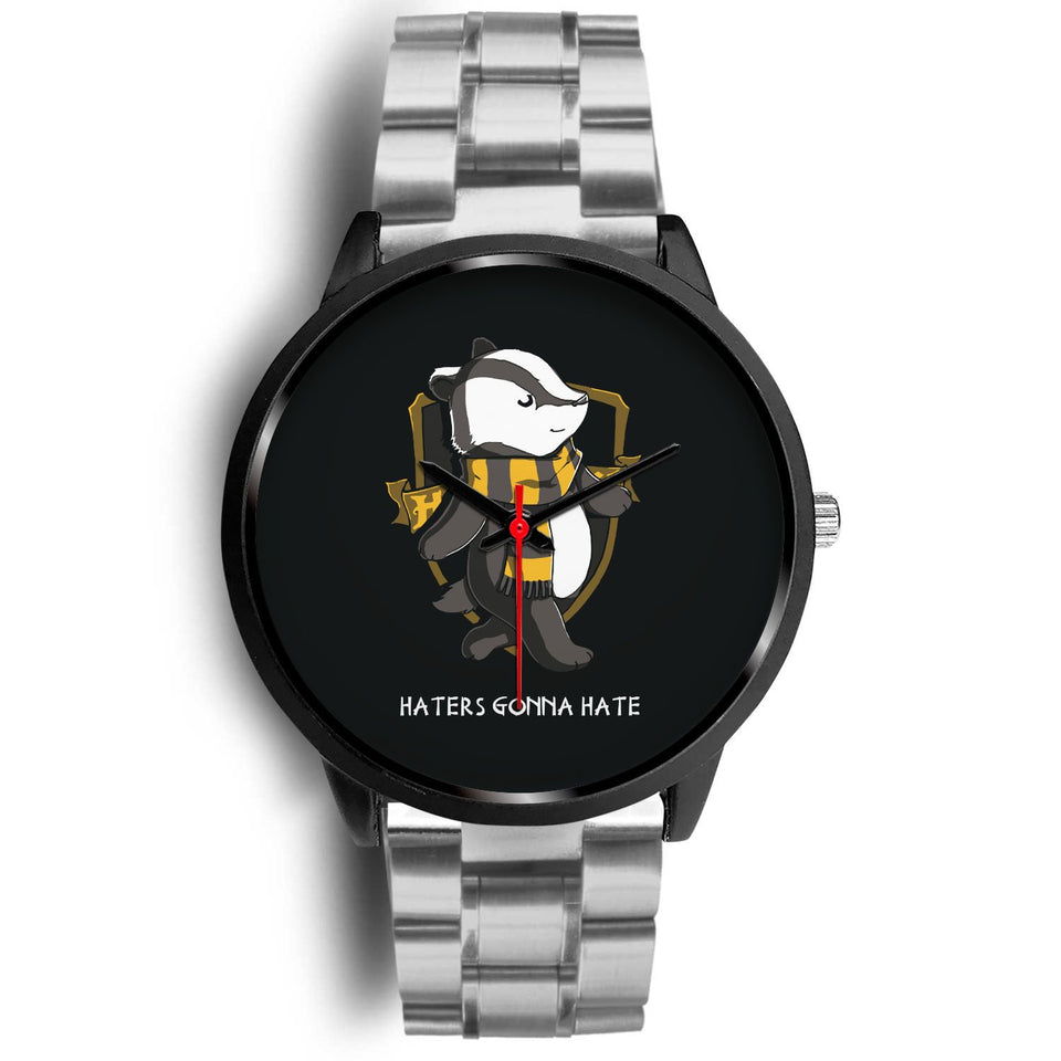 Harry Potter Hufflepuff Watches - HPW003 - Mens 40mm / Silver Metal Link - Ineffable Shop