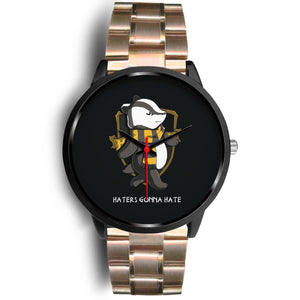 Harry Potter Hufflepuff Watches - HPW003 - Mens 40mm / Rose Gold Metal Link - Ineffable Shop
