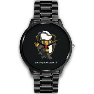Harry Potter Hufflepuff Watches - HPW003 - Mens 40mm / Black Metal Link - Ineffable Shop