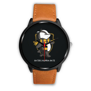 Harry Potter Hufflepuff Watches - HPW003 - Mens 40mm / Brown Leather - Ineffable Shop