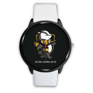 Harry Potter Hufflepuff Watches - HPW003 - Mens 40mm / White Leather - Ineffable Shop