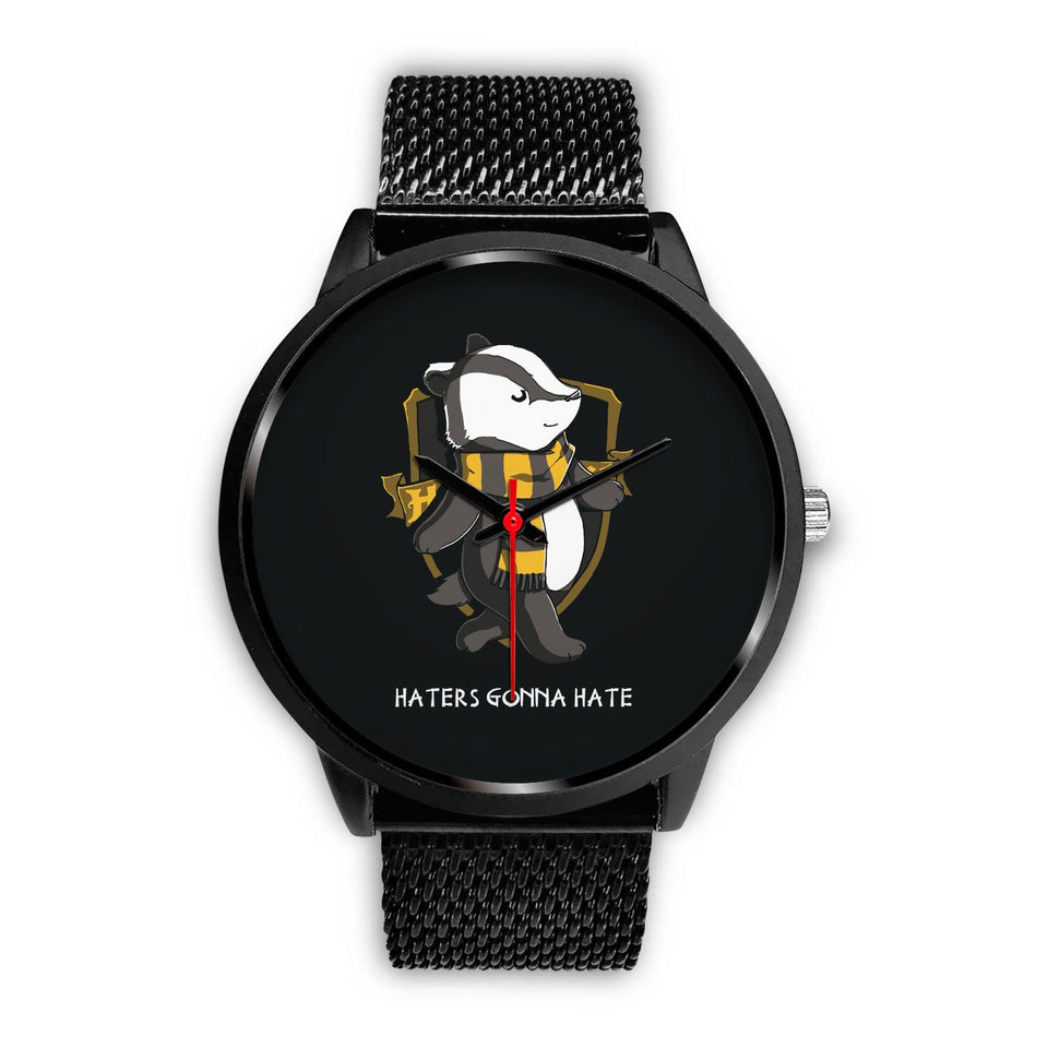 Harry Potter Hufflepuff Watches - HPW003 - Mens 40mm / Black Metal Mesh - Ineffable Shop