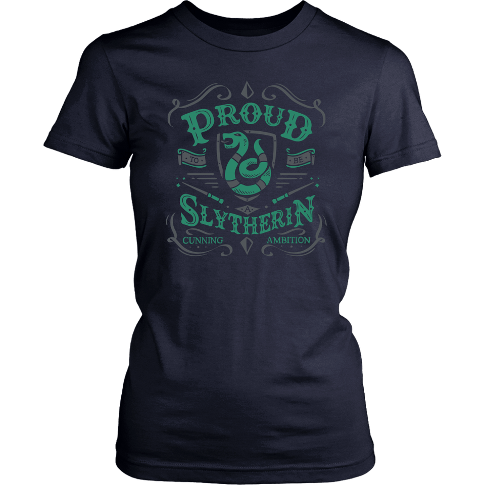 Slytherin District Womens Shirt - District Womens Shirt / Navy / XS - Ineffable Shop
