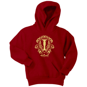 Harry Potter Vintage Hufflepuff Youth Hoodie - Youth Hoodie / Red / XS - Ineffable Shop