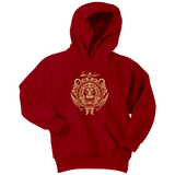 Harry Potter Vintage Gryffindor Badge Youth Hoodie - Youth Hoodie / Red / XS - Ineffable Shop