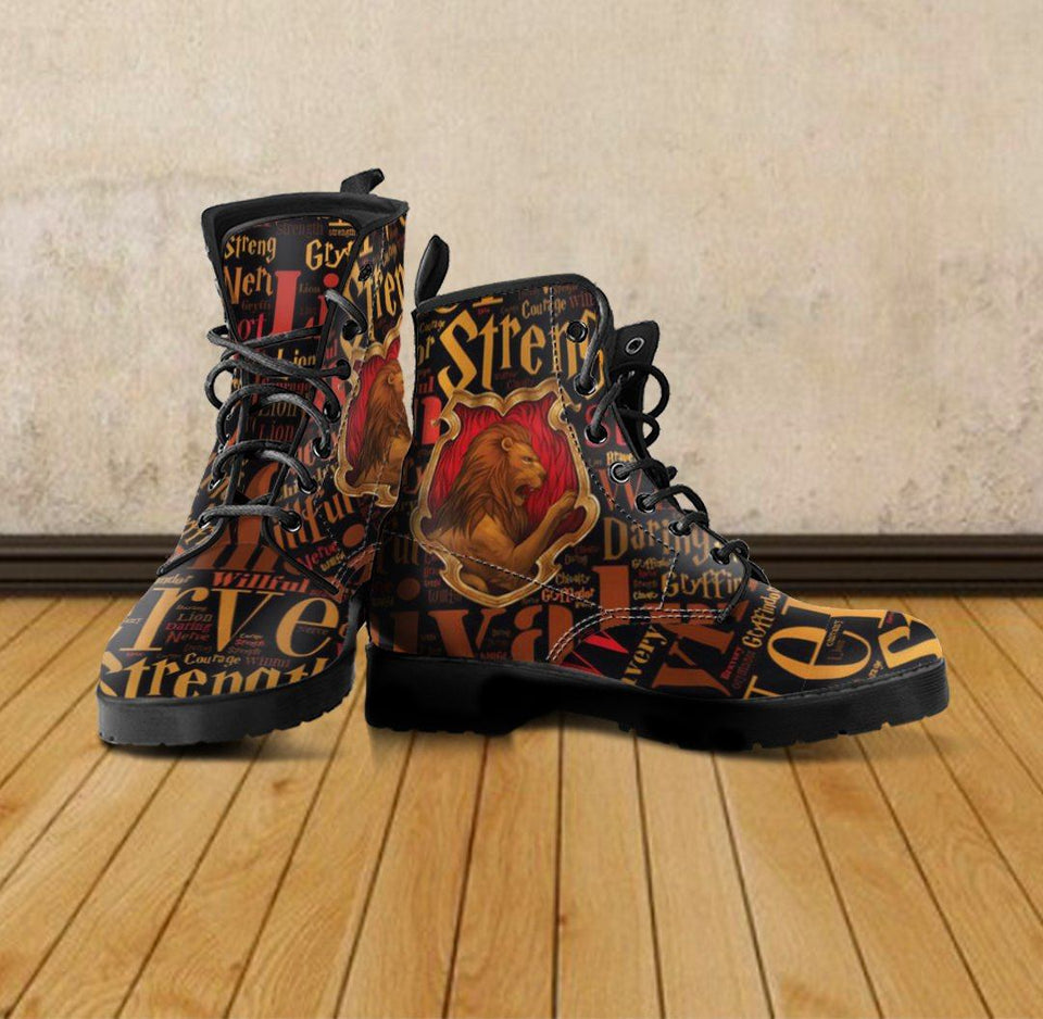 Harry Potter 4 House Women's Leather Boots Design HP0133 - - Ineffable Shop