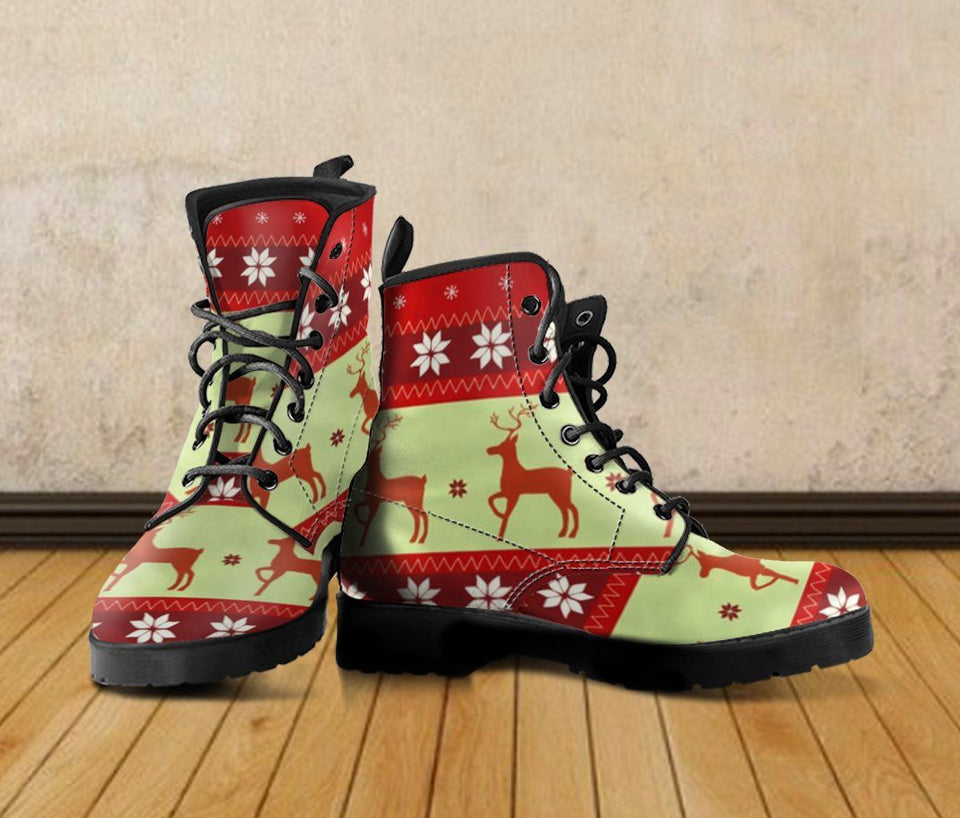Christmas Leather Boots - - Ineffable Shop