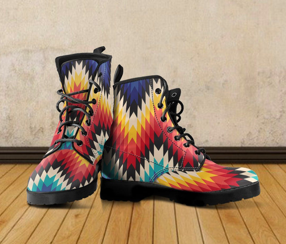 New Native American Leather Boots NT006 - Ineffable Shop