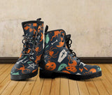 Halloween Leather Boots Design HLW005 - - Ineffable Shop