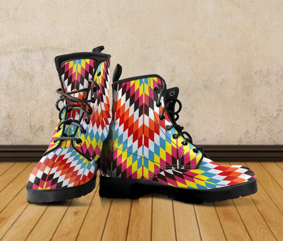 Native American Leather Boots Design NT015 - - Ineffable Shop