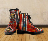 New Native American Indian Pattern Leather Boots NT004 - - Ineffable Shop