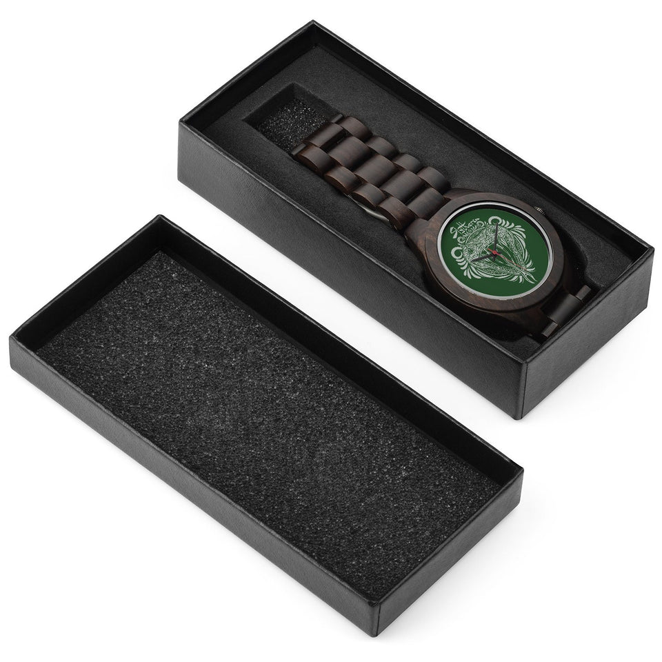 Custom Name - Slytherin Wood Watches - HCW0002 - Ineffable Shop