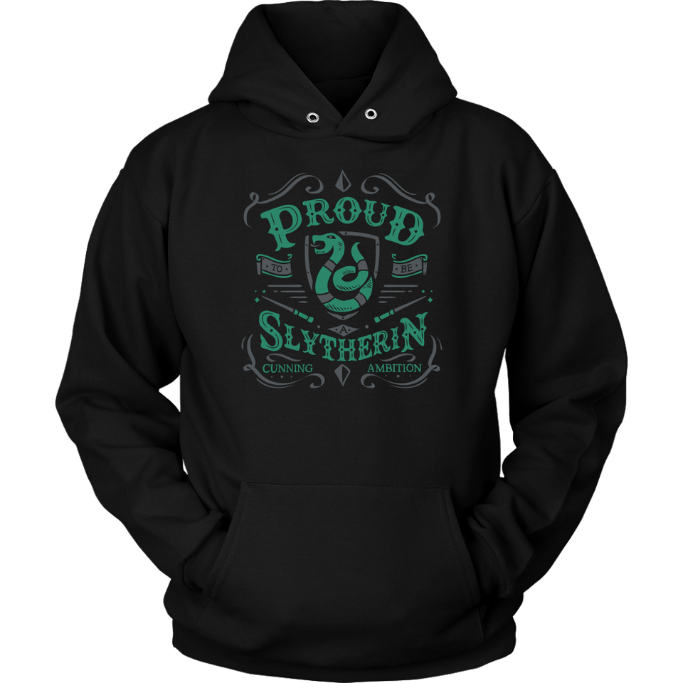 Slytherin Unisex Hoodie - Unisex Hoodie / Black / S - Ineffable Shop