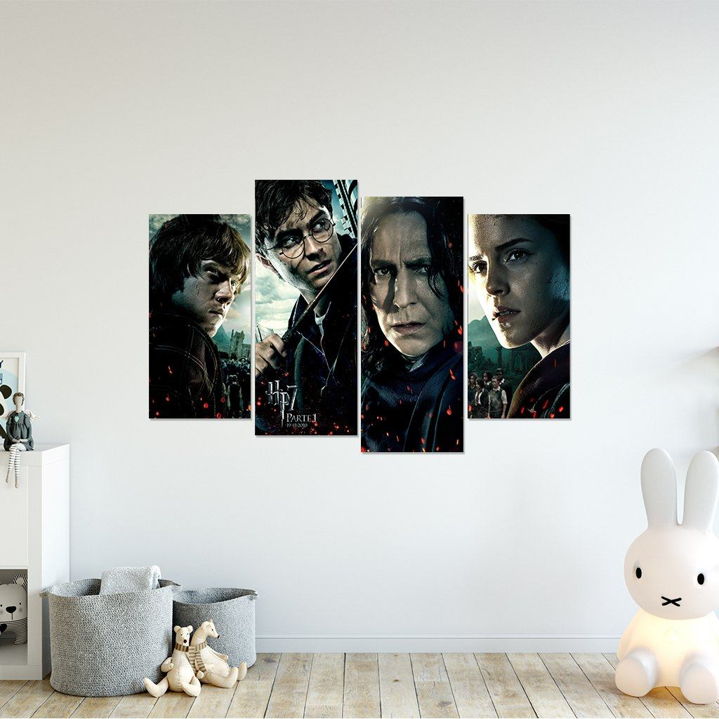 Harry Potter 4 Piece Framed Canvas HP0082