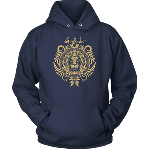 Harry Potter Vintage Gryffindor Badge Unisex Hoodie - Unisex Hoodie / Navy / S - Ineffable Shop