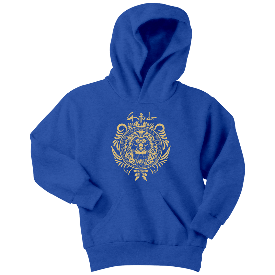 Harry Potter Vintage Gryffindor Badge Youth Hoodie - Youth Hoodie / Royal Blue / XS - Ineffable Shop