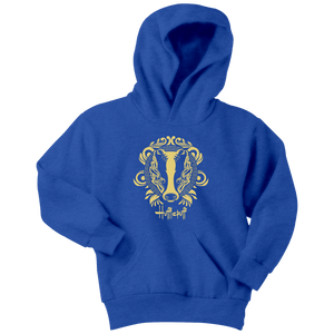 Harry Potter Vintage Hufflepuff Youth Hoodie - Youth Hoodie / Royal Blue / XS - Ineffable Shop