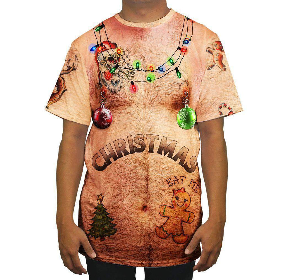 3D All Over Printed Christmas Sweater Shirts