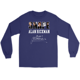 Harry Potter Alan Rickman Gildan Long Sleeve Tee - Gildan Long Sleeve Tee / Purple / S - Ineffable Shop