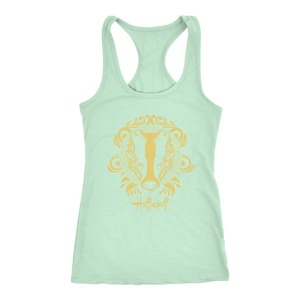 Harry Potter Vintage Hufflepuff Next Level Racerback Tank - Ineffable Shop