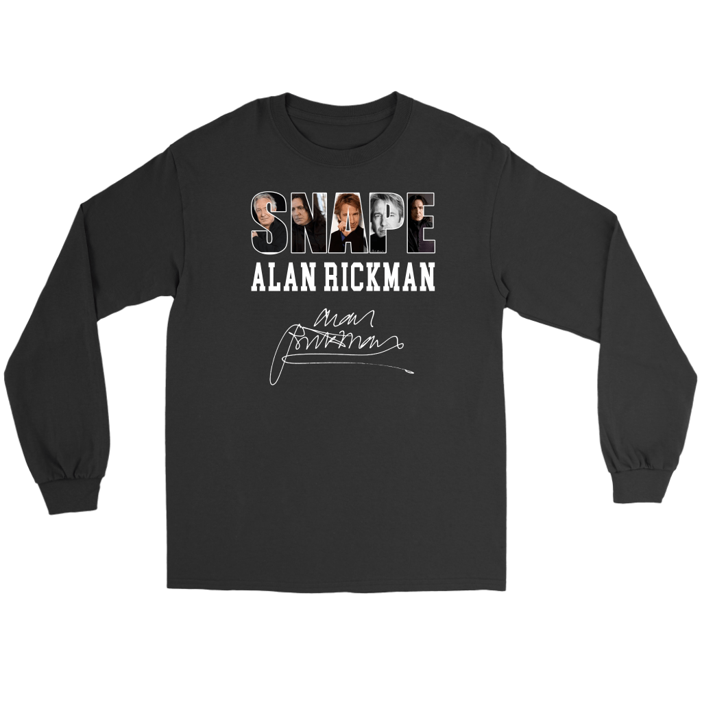 Harry Potter Alan Rickman Gildan Long Sleeve Tee - Gildan Long Sleeve Tee / Black / S - Ineffable Shop