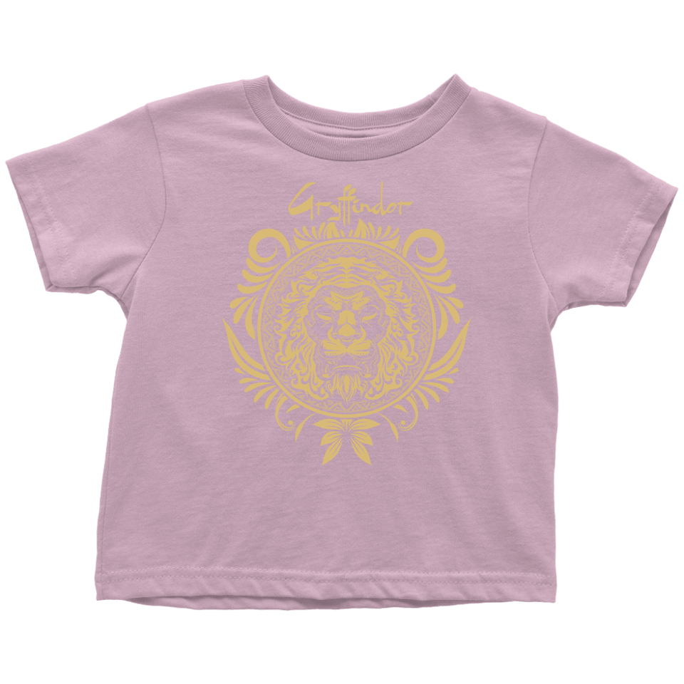 Harry Potter Vintage Gryffindor Badge Toddler T-Shirt - Toddler T-Shirt / Pink / 2T - Ineffable Shop