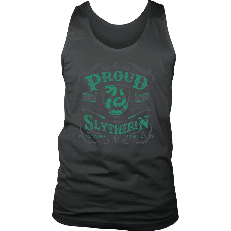 Slytherin District Mens Tank - District Mens Tank / Charcoal / S - Ineffable Shop