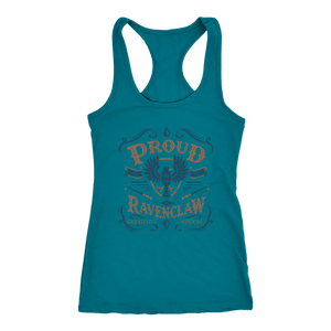Ravenclaw Pride Next Level Racerback Tank - Next Level Racerback Tank / Turquoise / XS - Ineffable Shop