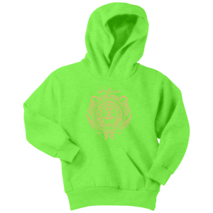 Harry Potter Vintage Gryffindor Badge Youth Hoodie - Youth Hoodie / Neon Green / XS - Ineffable Shop